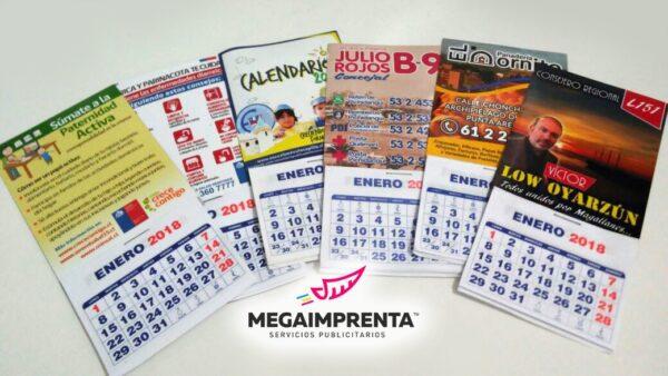 calendarios magneticos 2018