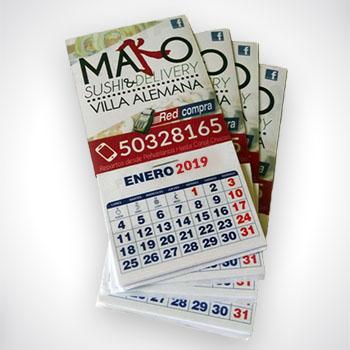 Impresión de Calendarios magnéticos
