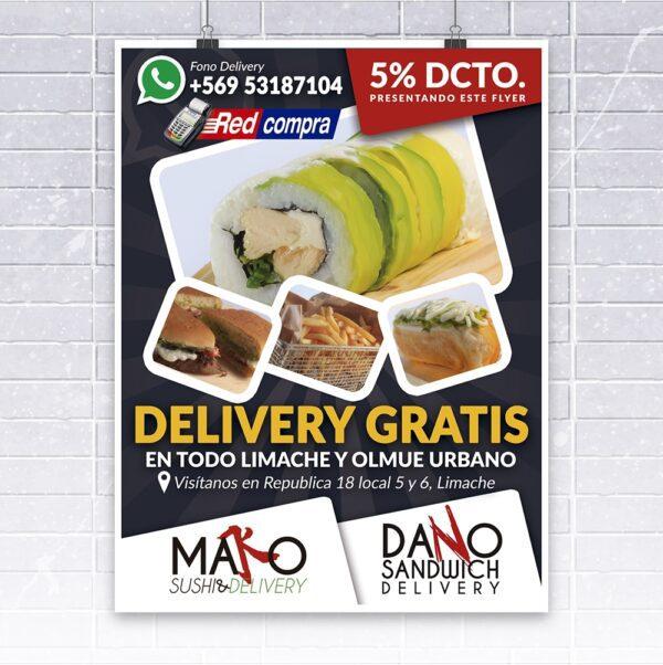 diseño flyer mako sushi