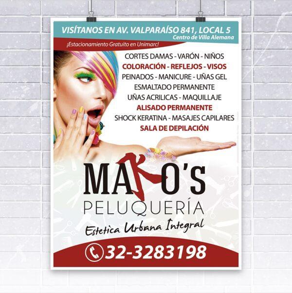 diseño flyer makos peluqueria