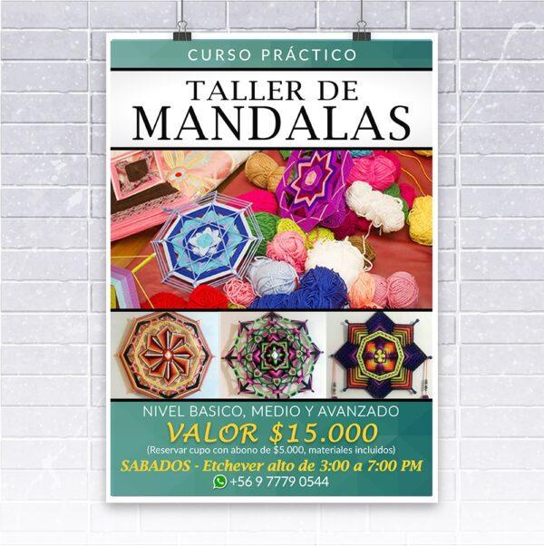 diseño flyer taller de mandalas