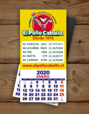mini calendario magnetico
