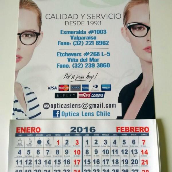 calendario bimensual opticas lens