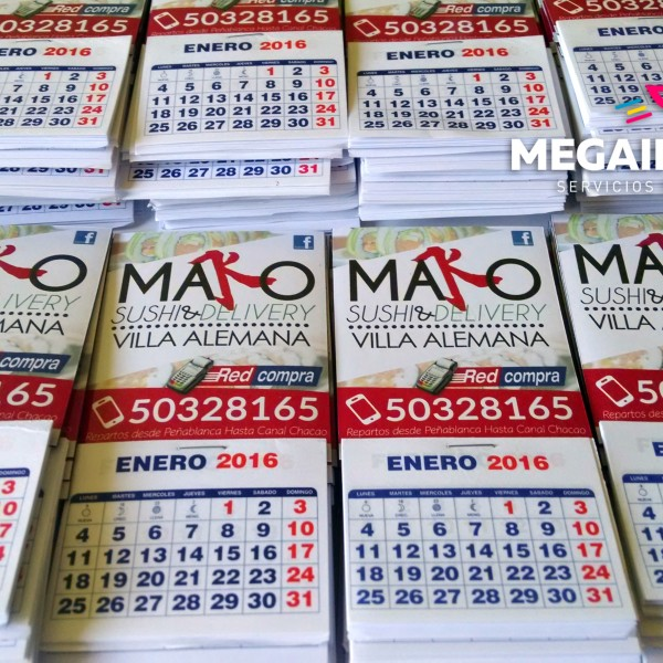 calendario magnetico mako sushi 1