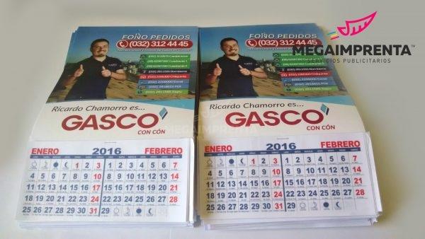 calendarios gasco 2016
