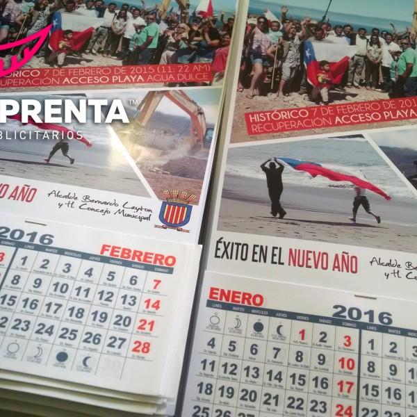 calendario de pared ilustre municipalidad de canela