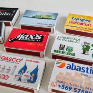 cajas de fósforos publicitarias