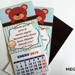 calendarios magneticos baby shower