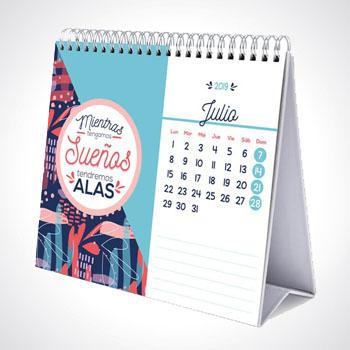 Impresión de Calendarios anillado doble cero