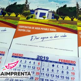 calendario de pared bimensual agua potable trupan