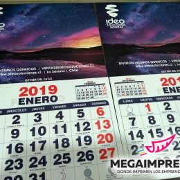calendario de pared grande ideo spa