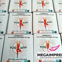 magneticos publicitarios yoga app